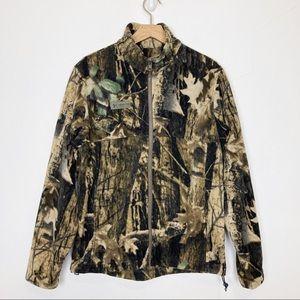 Columbia camo fleece zip up sweater camouflage